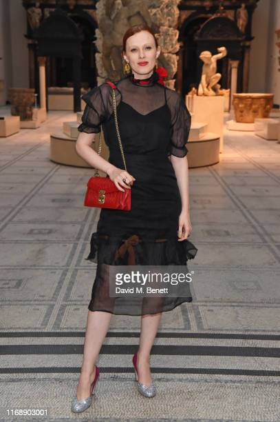 Karen Elson attends the Tim Walker Wonderful Things exhibition launch at The VA in partnership with British Fashion Council on September 17 2019 in...