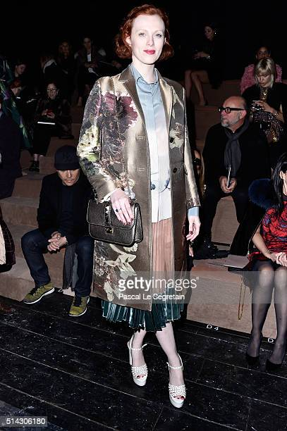 Karen Elson attends the Valentino show as part of the Paris Fashion Week Womenswear Fall/Winter 2016/2017 on March 8 2016 in Paris France