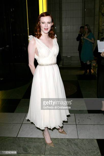Karen Elson during British Fashion Awards 2005 Arrivals at Raphael Gallery Victoria Albert in London Great Britain