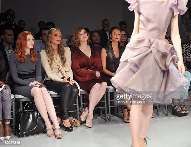 Karen Elson Molly Sims Christina Hendricks and Stacy Keibler attend the Zac Posen show during Spring 2014 MercedesBenz Fashion Week at Center 548 on...