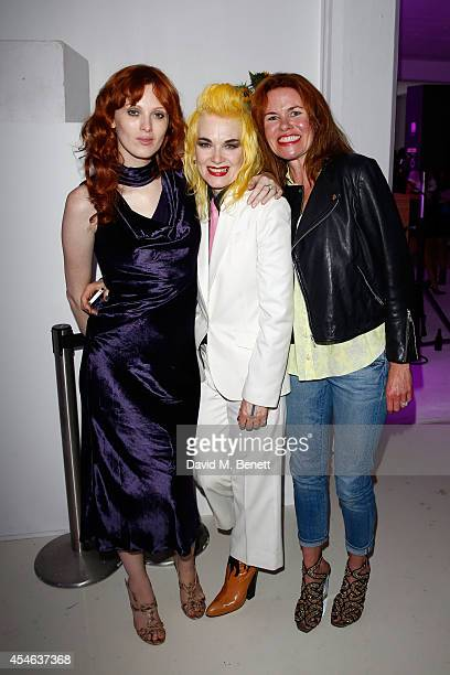 Karen Elson Pam Hogg and Erin Morris attend OFFtheGRID London event with Vivienne Westwood Trillion Fund and Findinginfinity on September 4 2014 in...