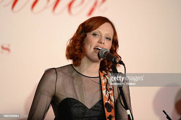 Karen Elson performs at Roger Vivier Rizzoli New York book launch on April 11 2013 in New York City