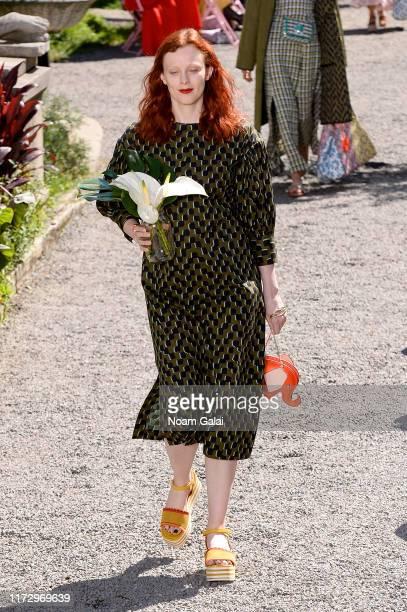 Karen Elson walks the runway for Kate Spade New York during New York Fashion Week at Elizabeth Street Gardens on September 07, 2019 in New York City.