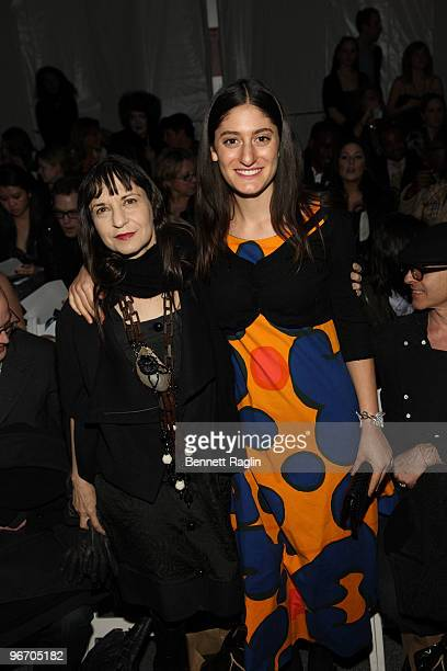 Karen Erickson and Arden Wohl attend Tony Cohen Fall 2010 during MercedesBenz Fashion Week at Bryant Park on February 14 2010 in New York City