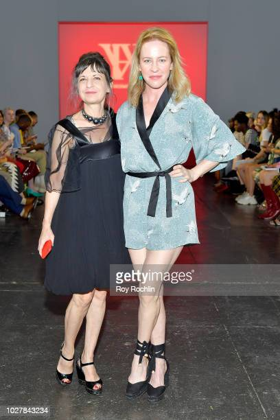 Karen Ericson and Amy Hargreaves attend the Hardware LND Front Row during New York Fashion Week The Shows at Industria Studios on September 6 2018 in...