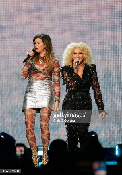 Karen Fairchild and Kimberly Schlapman of Little Big Town perform during the iHeartCountry Music Festival at The Frank Erwin Center on May 04 2019 in...