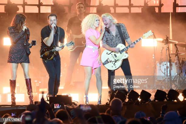 Karen Fairchild Jimi Westbrook Kimberly Schlapman and Phillip Sweet of the band Little Big Town performs during the inaugural 2019 Hometown Rising...