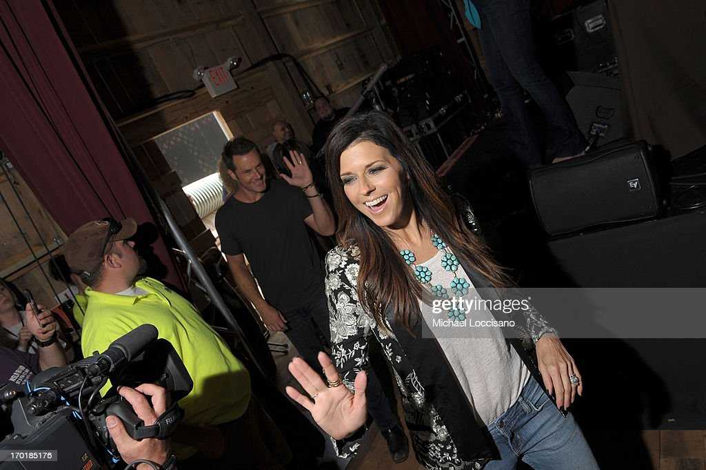 Karen Fairchild of Little Big Town attends HGTV'S The Lodge At CMA Music Fest - Day 3 on June 8, 2013 in Nashville, Tennessee.