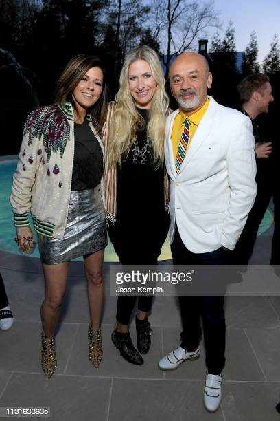 Karen Fairchild of Little Big Town Holly Williams and Christian Louboutin attend an intimate evening hosted by Nordstrom and Karen Fairchild with...
