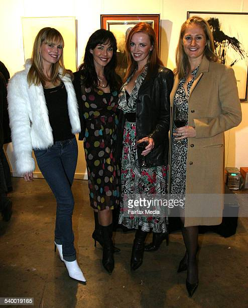 Karen Fischer Belinda Mathieson Annie Bloom and Alice Hocking at the Grays Online art auction Global Gallery Paddington Sydney 24 May 2006 SHD...