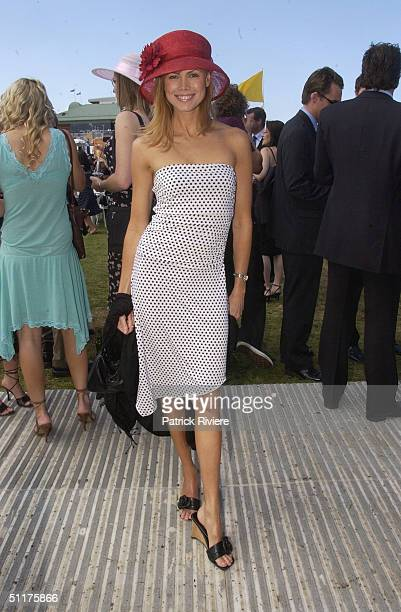 Karen Fisher at the AJC Spring Carnival held at the Randwick Royal Racecourse in Sydney