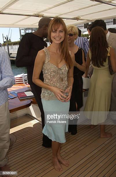 Karen Fisher at the Tommy Hilfiger Summer Fashion Show held at Otto Ristorante and aboard the China Grove II at the Wooloomooloo Wharf in Sydney