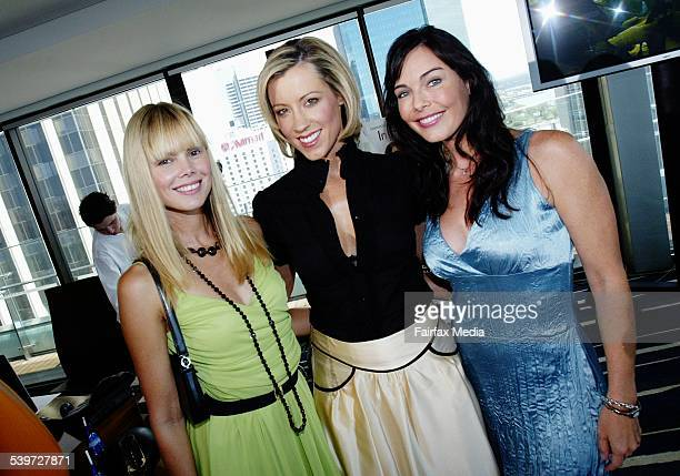 Karen Fisher Kath Robinson and Belinda Mathieson at the Marie Claire In Her Shoes Celebrity Shoe Auction for the Cancer Council at the...