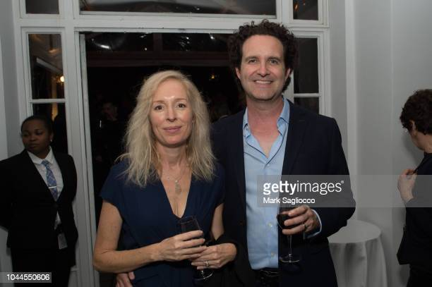 Karen FisherBaird and Robert Baird attend The Academy Of Motion Picture Arts Sciences 2018 New Members Party at Top of the Rock's 620 Loft Garden on...