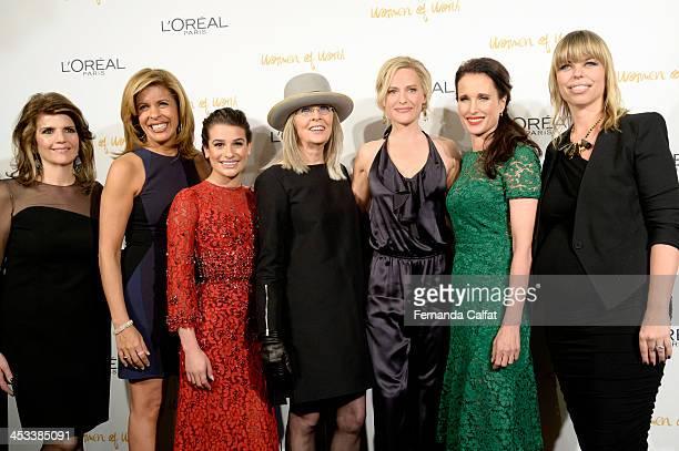 Karen Fondu Hoda Kotb Lea Michele Diane Keaton Aimme Mullins Andie MacDowell and Nathalie Kristo attend L'Oreal Paris' Women of Worth 2013 at The...