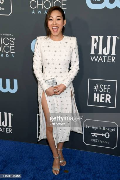 Karen Fukuhara attends the 25th Annual Critics' Choice Awards at Barker Hangar on January 12, 2020 in Santa Monica, California.