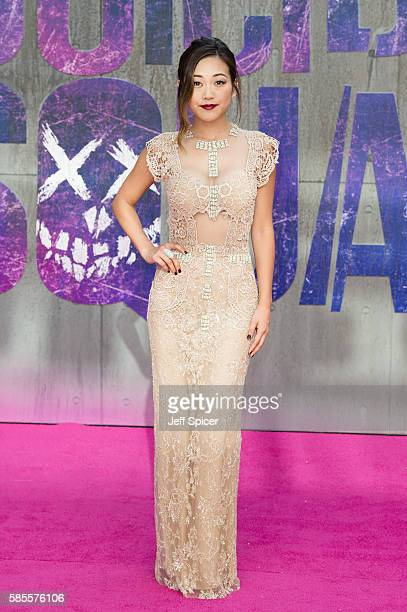 Karen Fukuhara attends the European Premiere of Suicide Squad at Odeon Leicester Square on August 3 2016 in London England