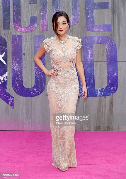 "Karen Fukuhara attends the European Premiere of ""Suicide Squad"" at the Odeon Leicester Square on August 3, 2016 in London, England."