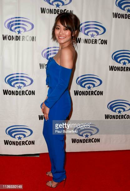 Karen Fukuhara attends the 'She-Ra and the Princesses of Power' press line during WonderCon 2019 at Anaheim Convention Center on March 30, 2019 in...