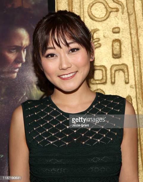 "Karen Fukuhara attends the ""Stray"" World Premiere on February 25, 2019 in Los Angeles, California."