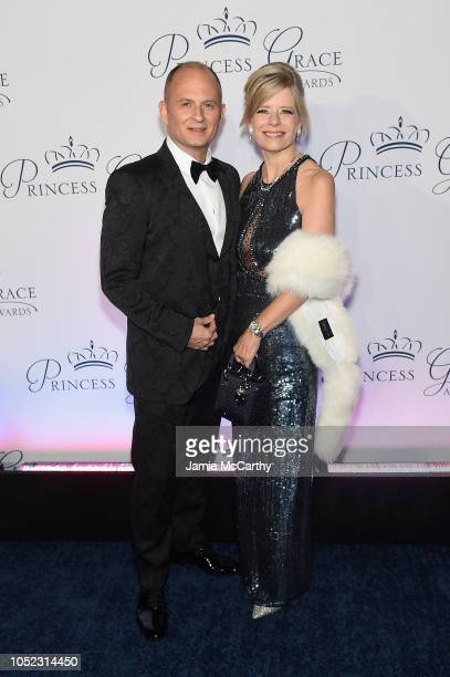 Karen Gancas and Rod Gancas attend the 2018 Princess Grace Awards Gala at Cipriani 25 Broadway on October 16 2018 in New York City