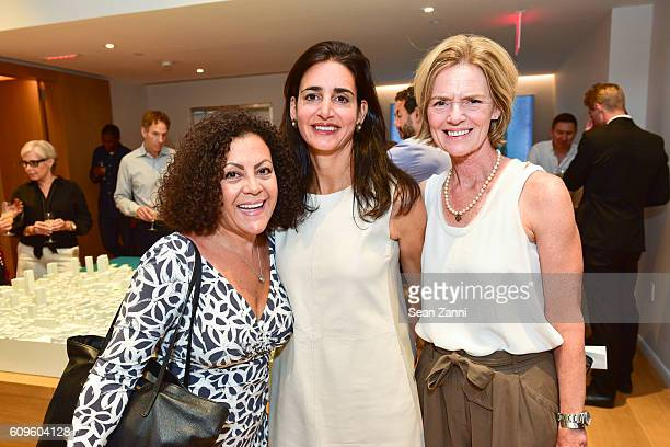 Karen Gastiaburo Wendy Arriz and Lib Goss attend 565 Broome Sales Gallery launch event at 372 West Broadway on September 20 2016 in New York City
