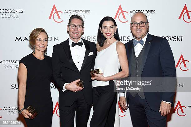 Karen Giberson Daniel Lawson Julianna Margulies and Frank Zambrelli pose with awards during the Accessories Council 20th Anniversary celebration of...