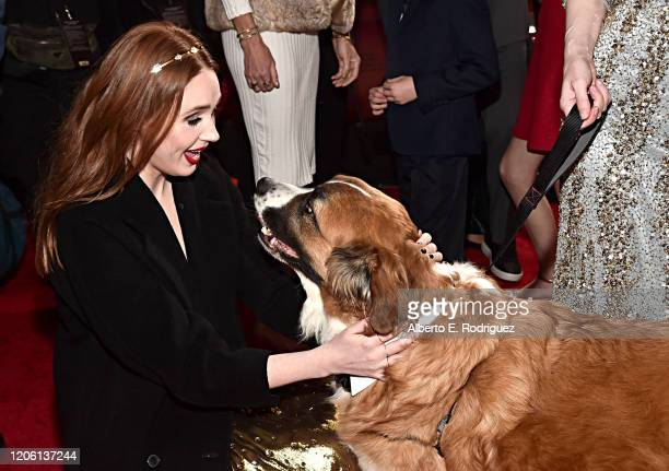 Karen Gillan and Buckley arrive at the World Premiere of 20th Century Studios' The Call of the Wild at the El Capitan Theatre on February 13 2020 in...