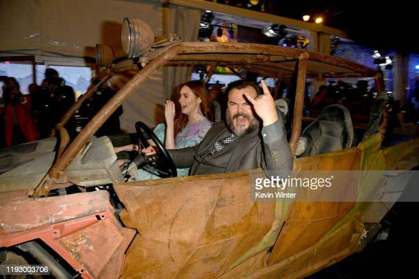 """Karen Gillan and Jack Black attend the premiere of Sony Pictures' """"Jumanji: The Next Level"""" at TCL Chinese Theatre on December 09, 2019 in Hollywood,..."""