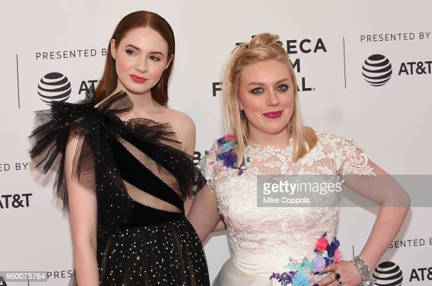 Karen Gillan and Rachel Jackson attends a screening of 'The Party's Just Beginning' during the 2018 Tribeca Film Festival at SVA Theatre on April 22...