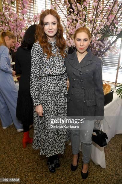 Karen Gillan and Zosia Mamet attend the CHANEL Tribeca Film Festival Women's Filmmaker Luncheon at Odeon on April 20 2018 in New York City
