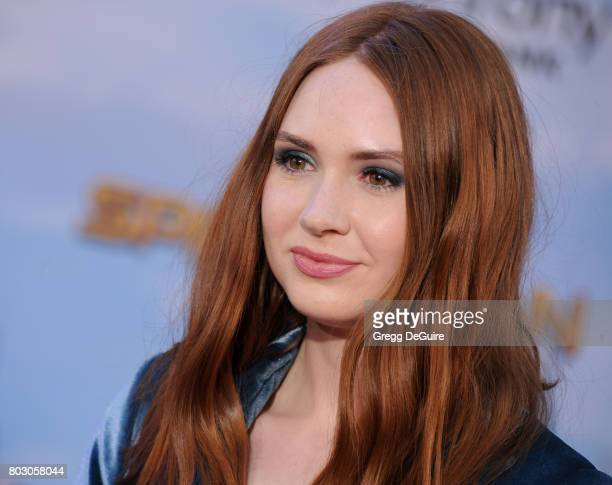 Karen Gillan arrives at the premiere of Columbia Pictures' SpiderMan Homecoming at TCL Chinese Theatre on June 28 2017 in Hollywood California
