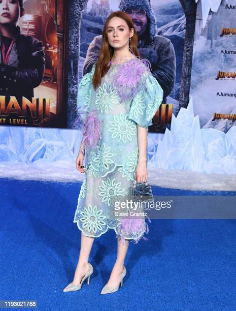 Karen Gillan arrives at the Premiere Of Sony Pictures' Jumanji The Next Level on December 09 2019 in Hollywood California