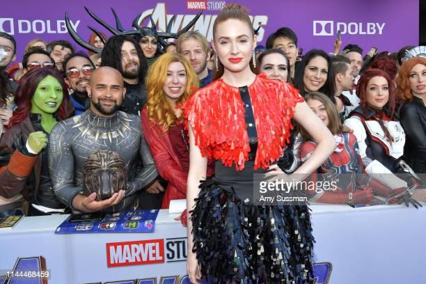 Karen Gillan arrives for the World premiere of Marvel Studios' 'Avengers Endgame' at Los Angeles Convention Center on April 22 2019 in Los Angeles...