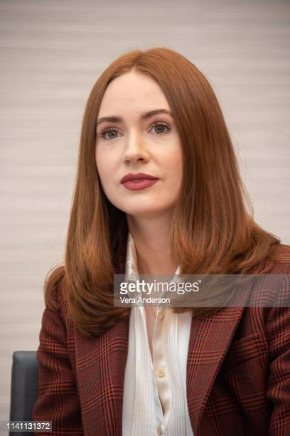 Karen Gillan at the Avengers Endgame Press Conference at the InterContinental Hotel on April 07 2019 in Los Angeles California