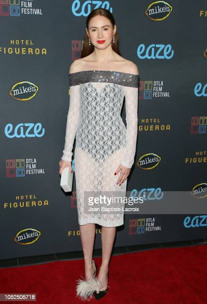 Karen Gillan attends the 2018 Downtown Los Angeles Film Festival - 'All Creatures Here Below' 'Original Sin' And Perception' Press line held at Regal...