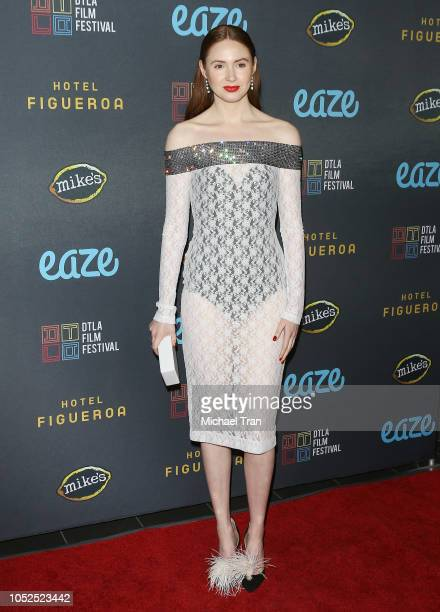 """Karen Gillan attends the 2018 Downtown Los Angeles Film Festival - """"All Creatures Here Below"""" """"Original Sin"""" And Perception"""" Press line held at Regal..."""