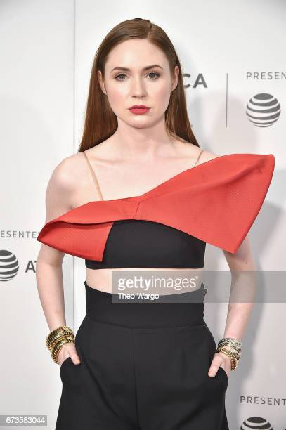 """Karen Gillan attends """"The Circle"""" Premiere at the BMCC Tribeca PAC on April 26, 2017 in New York City."""