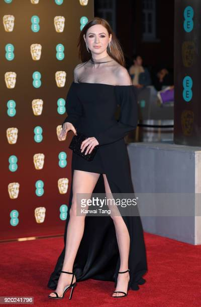 Karen Gillan attends the EE British Academy Film Awards held at the Royal Albert Hall on February 18 2018 in London England
