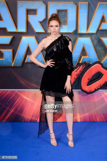 Karen Gillan attends the European Gala Screening of Guardians of the Galaxy Vol 2 at Eventim Apollo on April 24 2017 in London United Kingdom