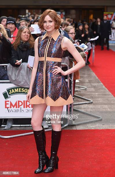 Karen Gillan attends the Jameson Empire Awards 2015 at Grosvenor House on March 29 2015 in London England
