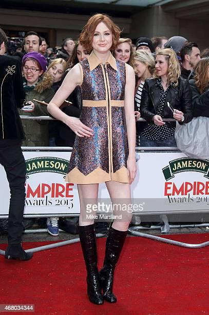 Karen Gillan attends the Jameson Empire Awards 2015 at Grosvenor House on March 29 2015 in London England