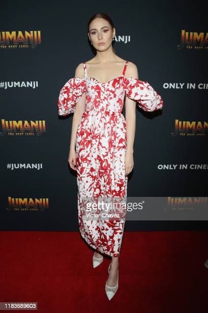 Karen Gillan attends the Jumanji The Next Level red carpet at Montage Los Cabos on November 20 2019 in Cabo San Lucas Mexico
