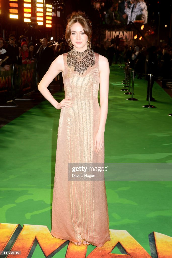 Karen Gillan attends the 'Jumanji: Welcome To The Jungle' UK premiere held at Vue West End on December 7, 2017 in London, England.