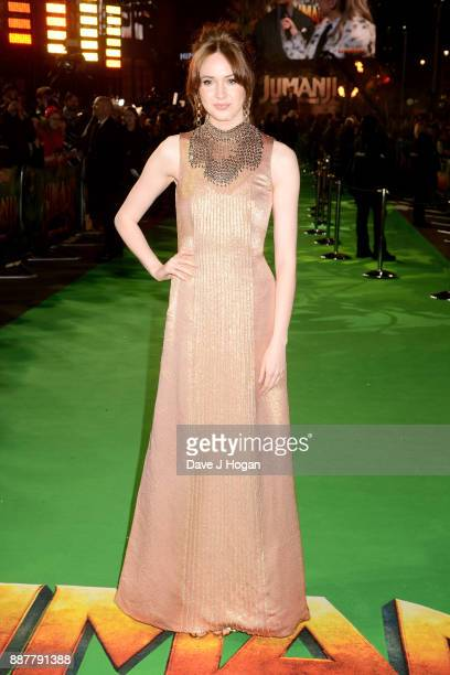 Karen Gillan attends the 'Jumanji Welcome To The Jungle' UK premiere held at Vue West End on December 7 2017 in London England