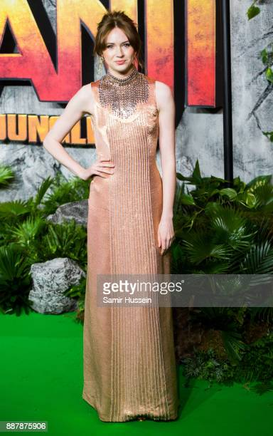Karen Gillan attends the 'Jumanji Welcome To The Jungle UK premiere held at Vue West End on December 7 2017 in London England