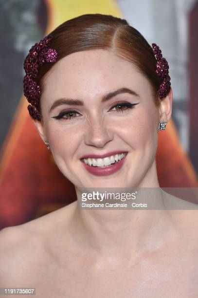 Karen Gillan attends the photocall of the Jumanji Next Level film at le Grand Rex on December 03 2019 in Paris France