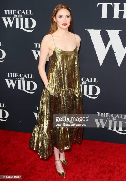 """Karen Gillan attends the Premiere of 20th Century Studios' """"The Call of the Wild"""" at El Capitan Theatre on February 13, 2020 in Los Angeles,..."""