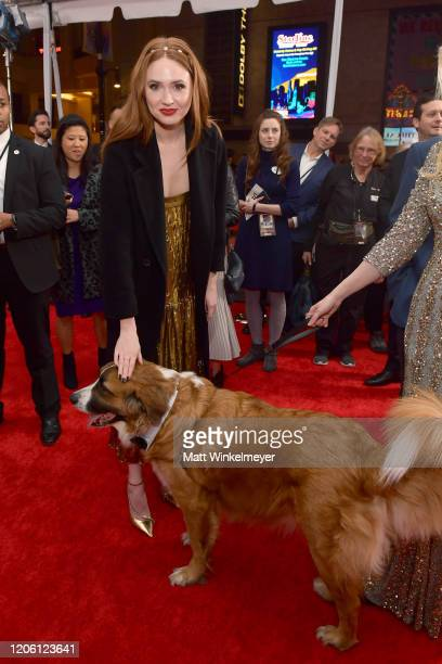 Karen Gillan attends the Premiere of 20th Century Studios' The Call of the Wild at El Capitan Theatre on February 13 2020 in Los Angeles California