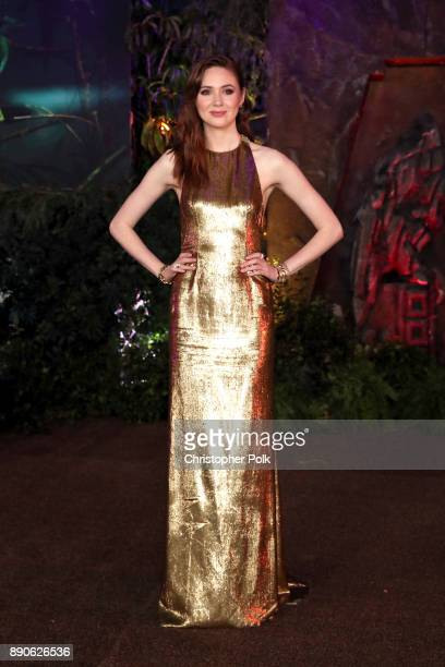 Karen Gillan attends the premiere of Columbia Pictures' Jumanji Welcome To The Jungle on December 11 2017 in Hollywood California
